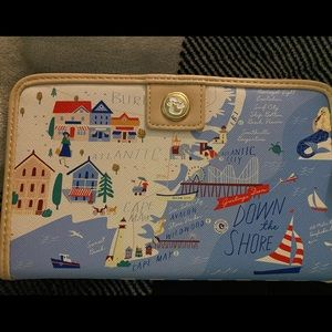 Spartina 449 jersey shore map wallet new with tags